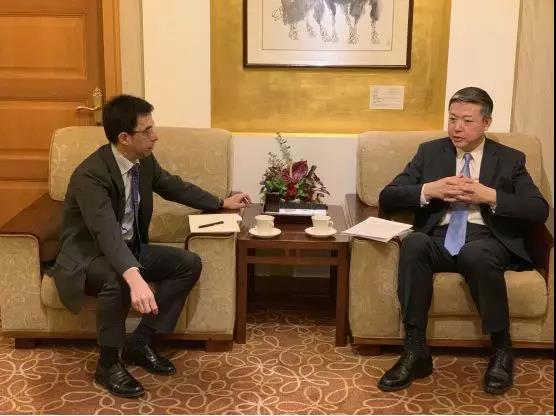 外交部领事司副司长陈雄风约见西班牙驻华使馆公使歌华麓